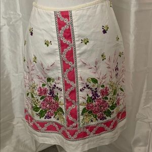 Ann Taylor Loft Linen Skirt.  EUC.  Size 6.